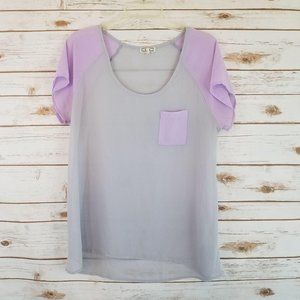 Kirra Sheer Short Raglan Sleeve Top